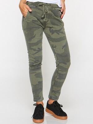 spodnie jeansy moro