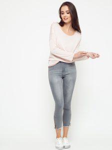 elegancja stylizacja damska z bluzka