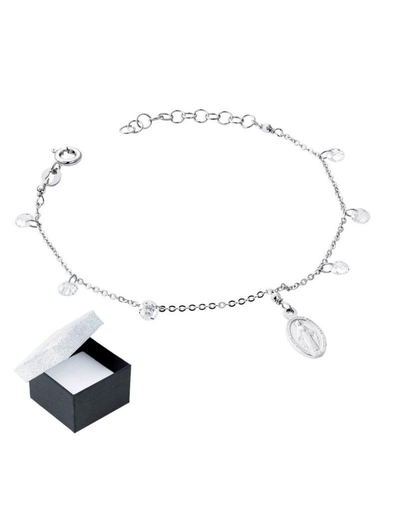 srebrna bransoletka typu sakralnego